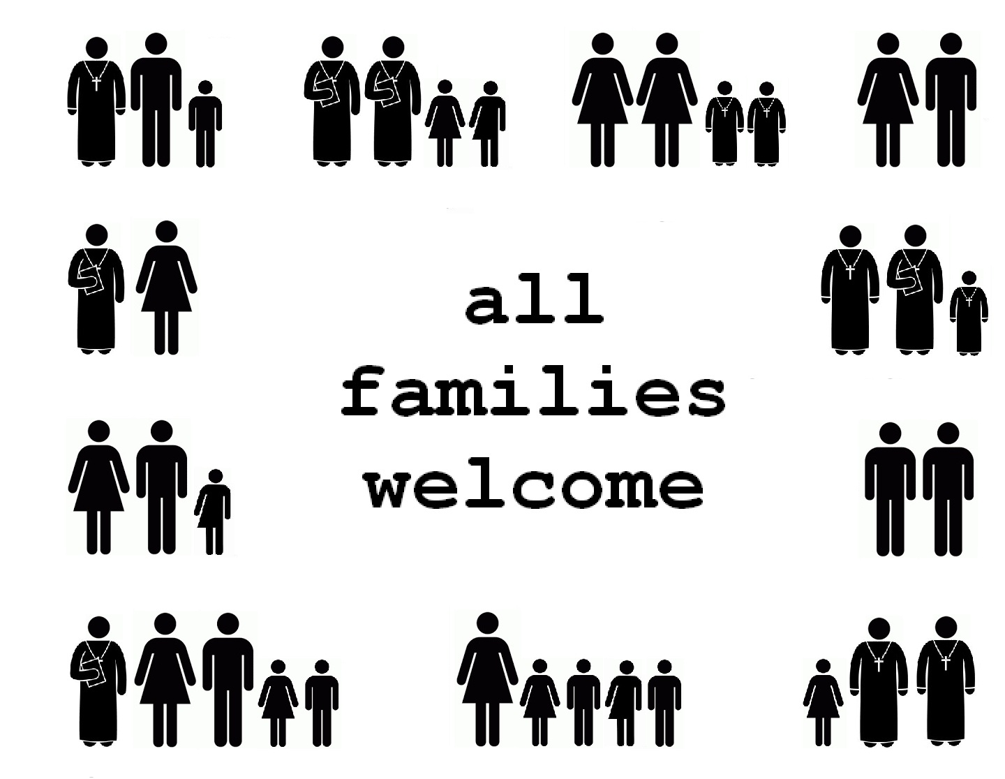 All Families Welcome Safe Space Posters For Your Church The Goodness Of God