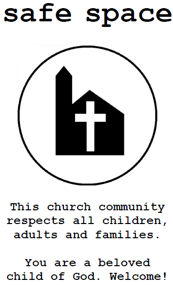 safe space church sign