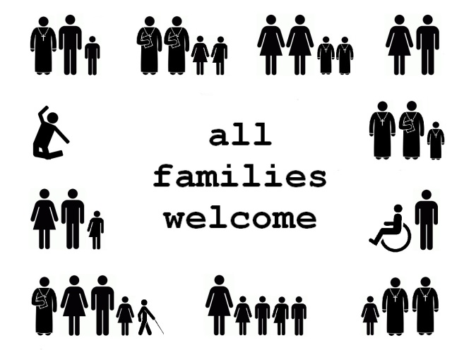 all families welcome church sign with all abilities