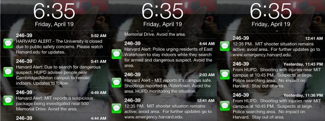 Harvard Text Messages